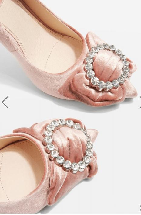 Topshop Velvet Shoes