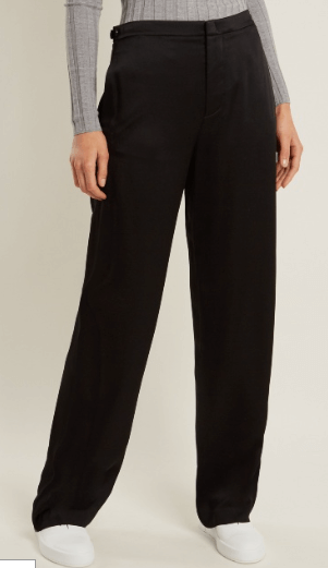 Vince wide legged satin trouser