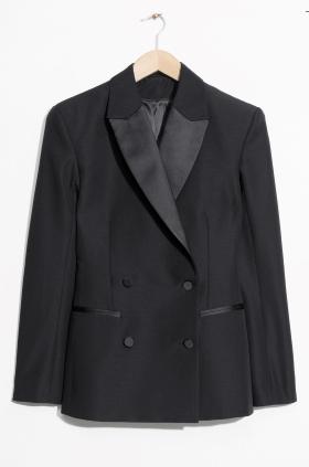 Wool tuxedo blazer