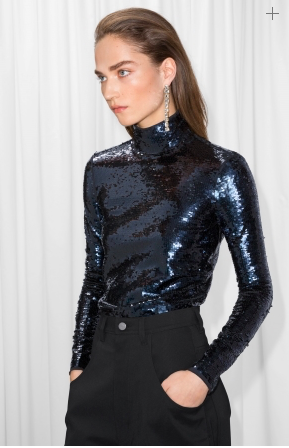 Sequin top black trousers