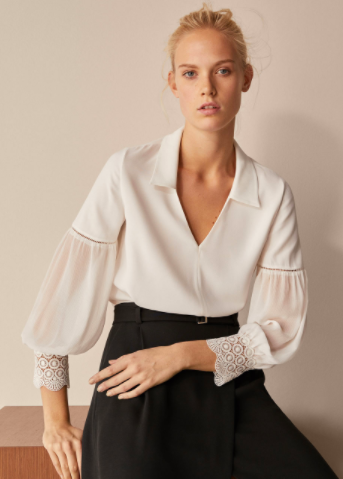 Massimo Dutti crocheted blouse