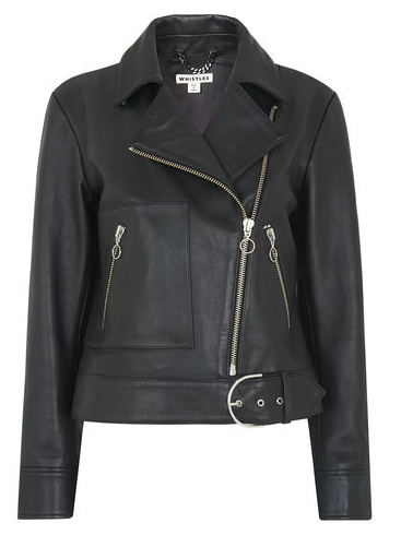 Black leather biker | Jigsaw