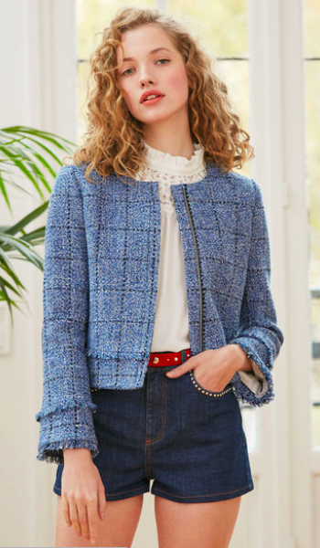 Tweed jacket - ignore the hotpants! This can be worn with smart trousers! | Claudie Pierlot