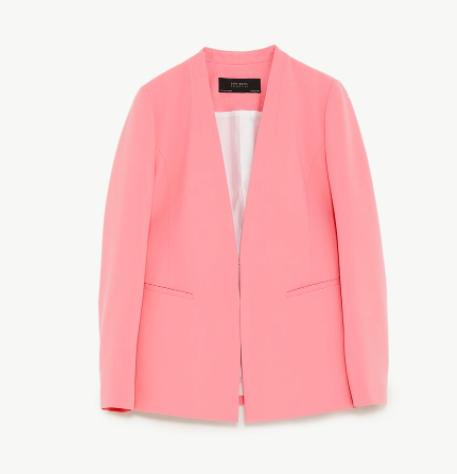 pastel pink blazer | Zara