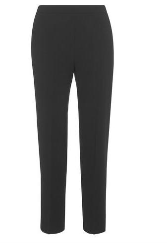 Classic black crepe trouser