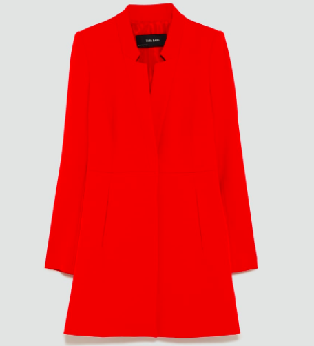 Red frock coat | Zara