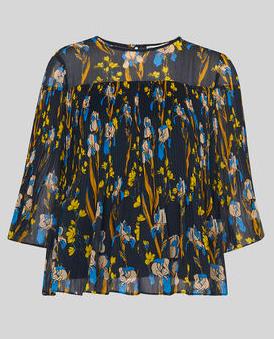 Iris printed chiffon blouse   Whistles
