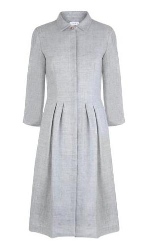 Libby London wool/linen shirt dress