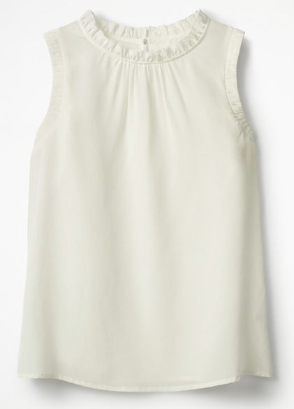 Boden sleeveless cream silk top