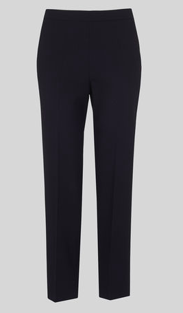 Whistles Anna elasticated waist navy trousers