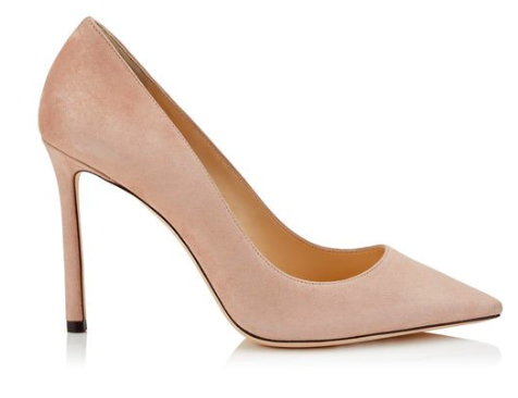 Jimmy Choo ballet pink suede court shoe