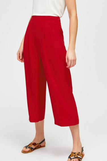 Red tailored cullottes - Warehouse