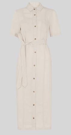 Stone linen shirt dress - Whistles
