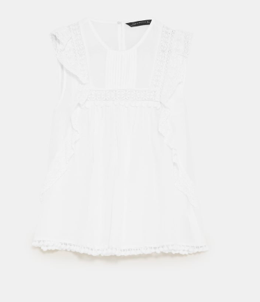 White broderie top -  Zara - lots of choices to suit you here