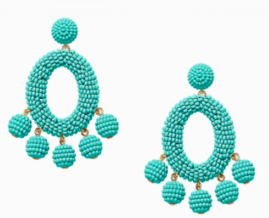 Turquoise and gold earrings | Stella & Dot