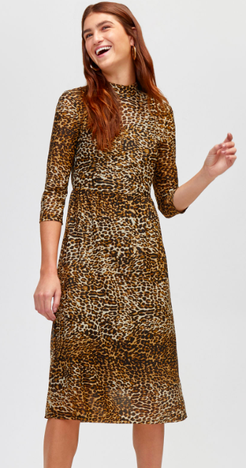 Or go for the more traditional leopard print like this  mesh dress from Warehouse.