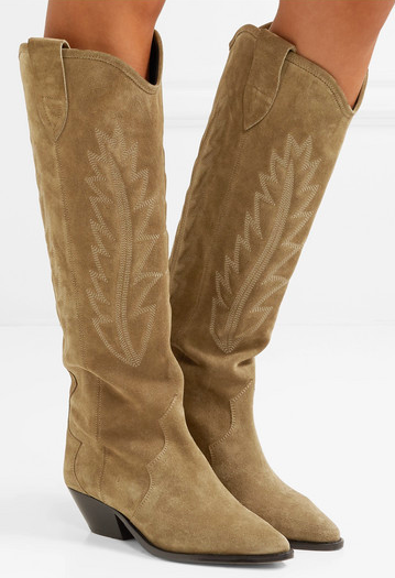 A different take on the ankle cowboy boots, these beige suede from Isabel Marant are a bold choice! For Autumn '18 she had a western vibe running through the whole collection.