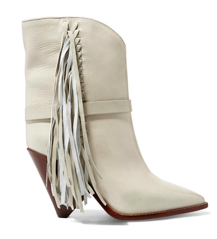 Another  Isabel Marant boot  from this season with her signature fringing detail. Love these but too expensive for my budget! More affordable version below from Zara.