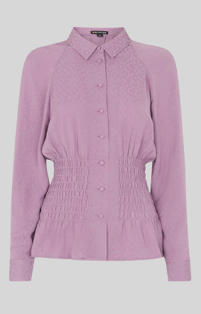 Whistles lilac waisted blouse