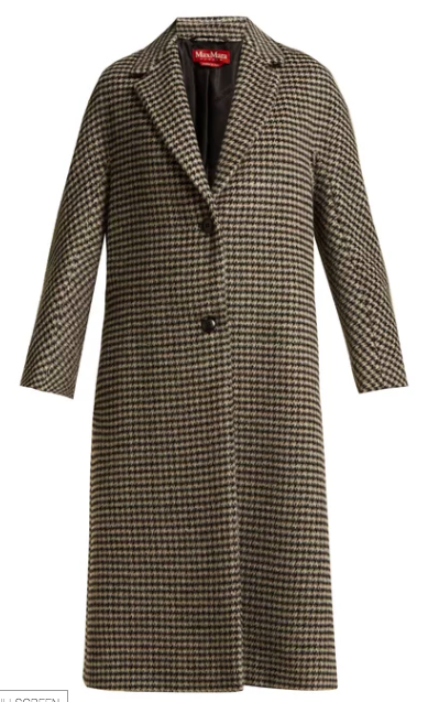 Maxmara check coat at Matches Fashion
