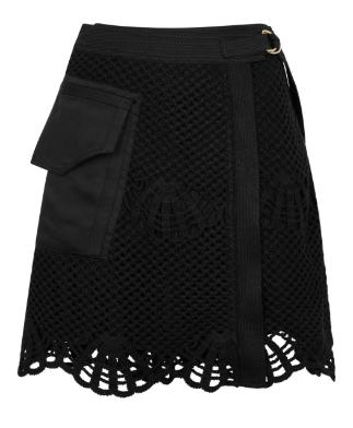 Self portrait crochet skirt