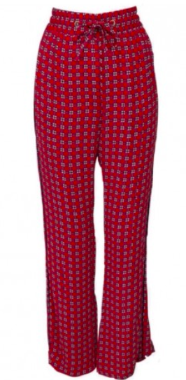 Baum - Red and pink patterned loose trousers