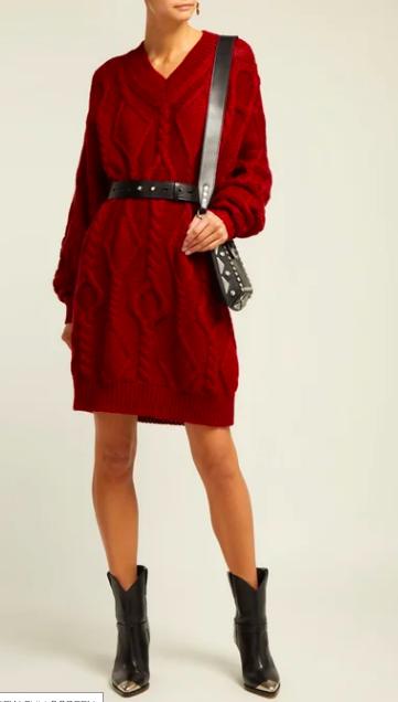 Isabel Marant cable knit dress