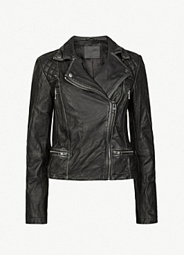 All Saints leather biker jacket - £238 down from £298 at Selfridges
