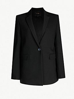 Maje black blazer at Selfridges