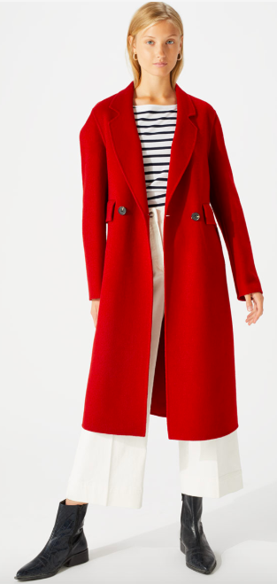 Red statement coat at Jigsaw