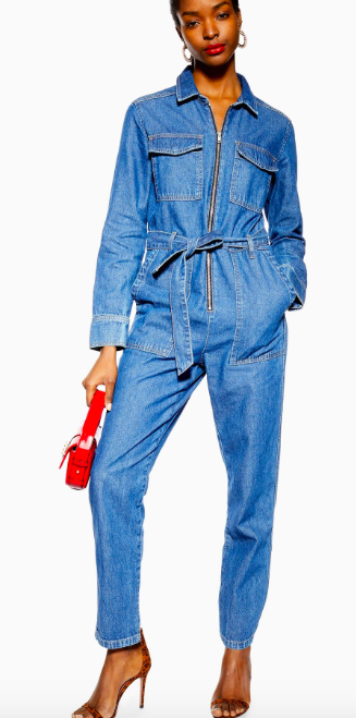 Topshop Denim Utility Boiler Suit
