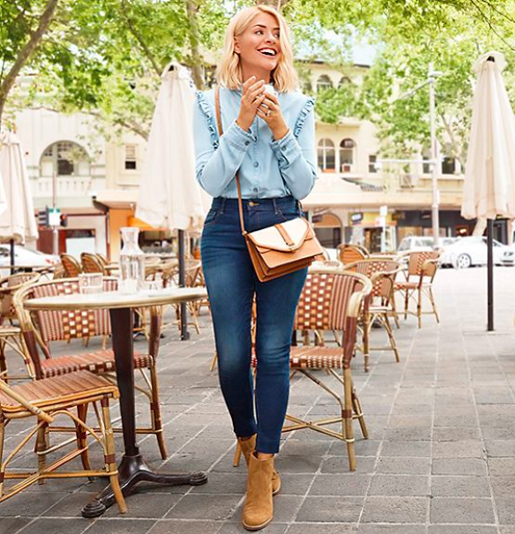 Holly's double denim look available at M&S