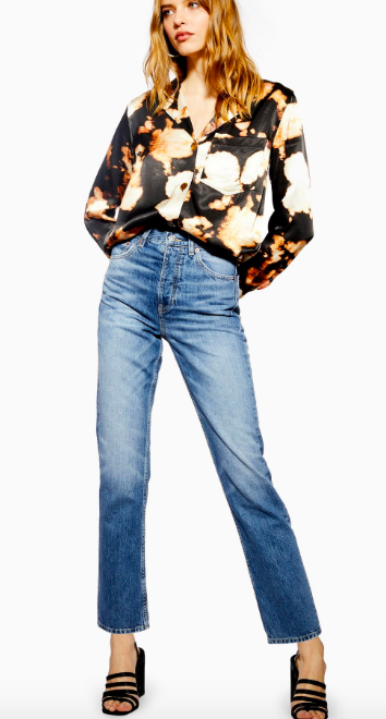Topshop straight cut Editor Jeans