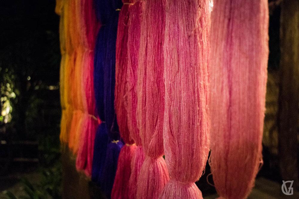 Coloured silks, Bangkok