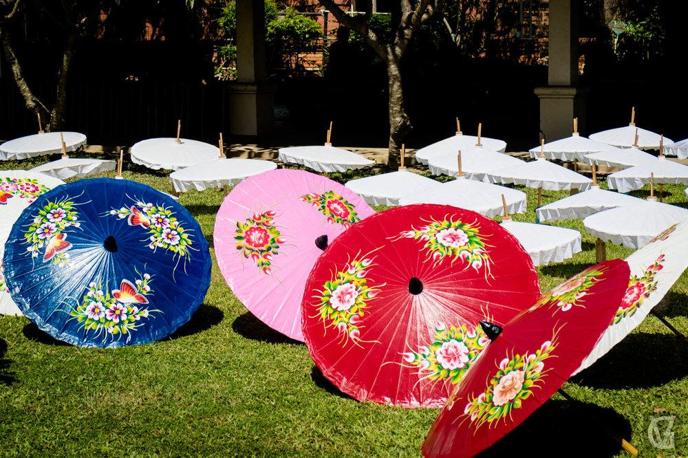 Umbrella making factory, Chiang Mai