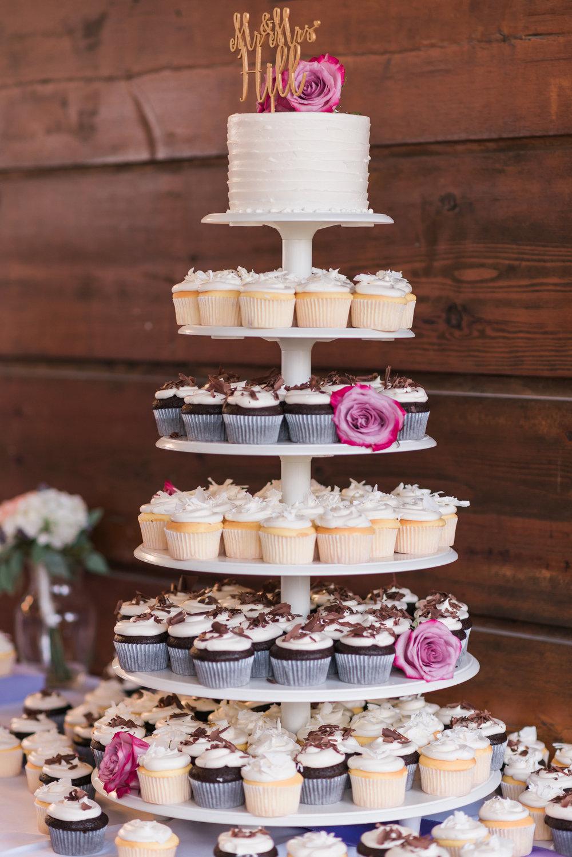 Vanilla & Chocolate Cupcake Tower