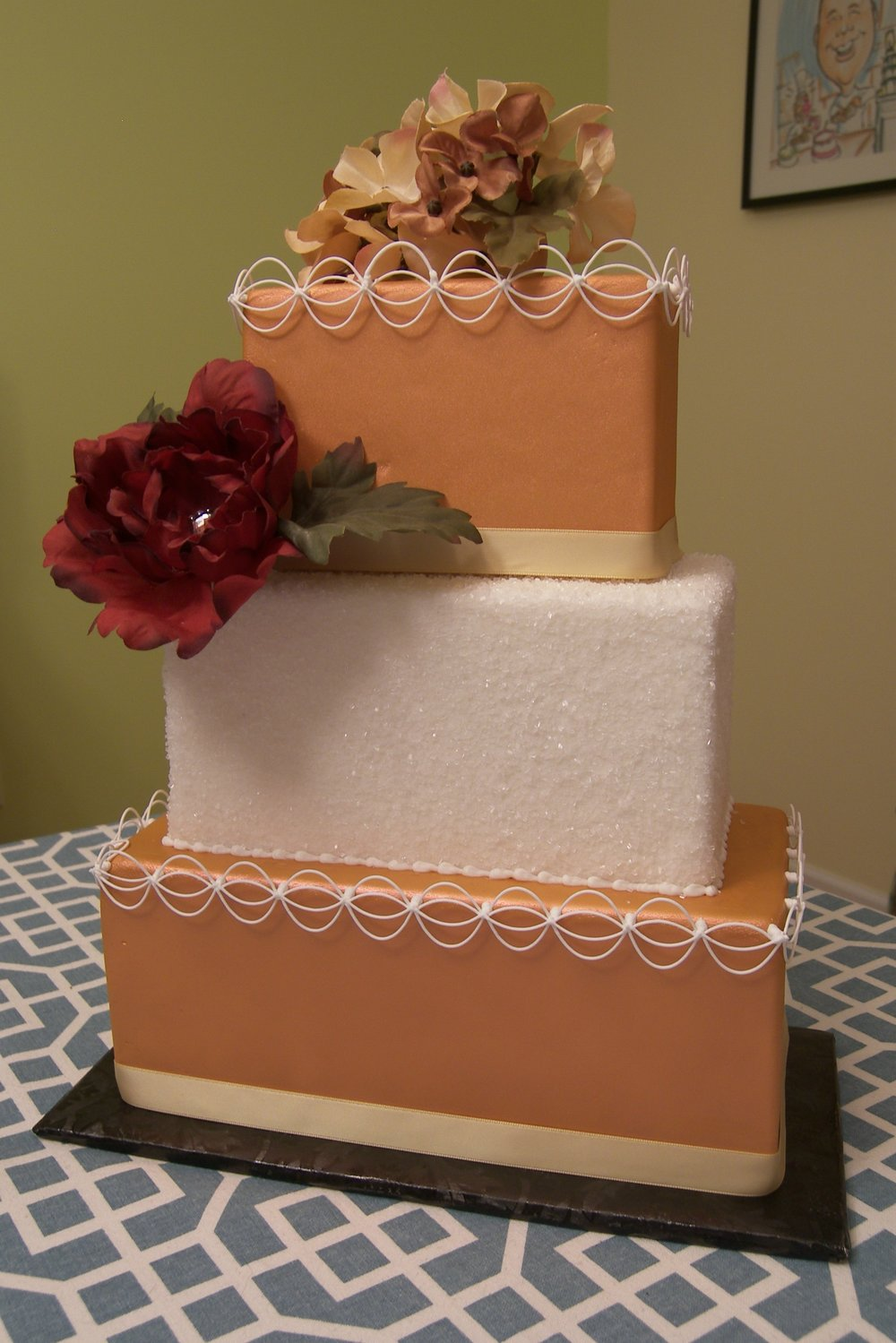 Square Copper Cake