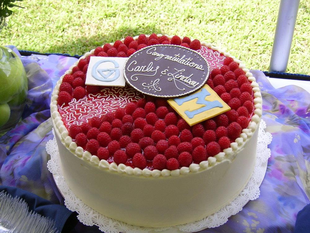 Raspberry Grad Cake