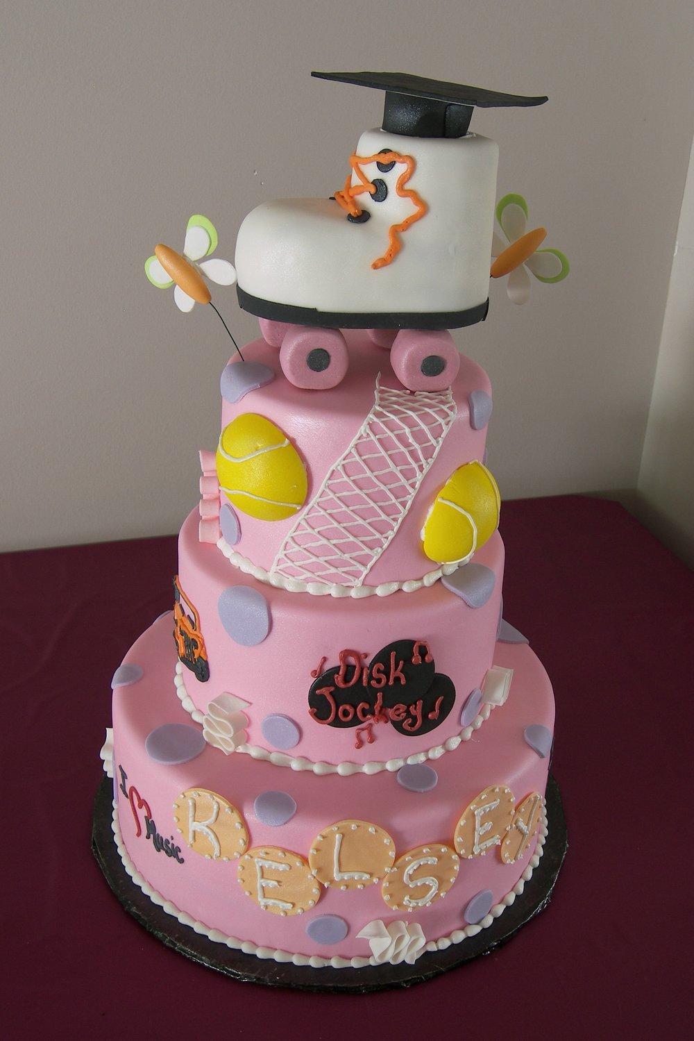Kelsey's Grad Cake