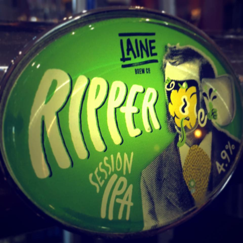 Come down now for a fresh, hoppy pint of Ripper courtesy of Laine's London.