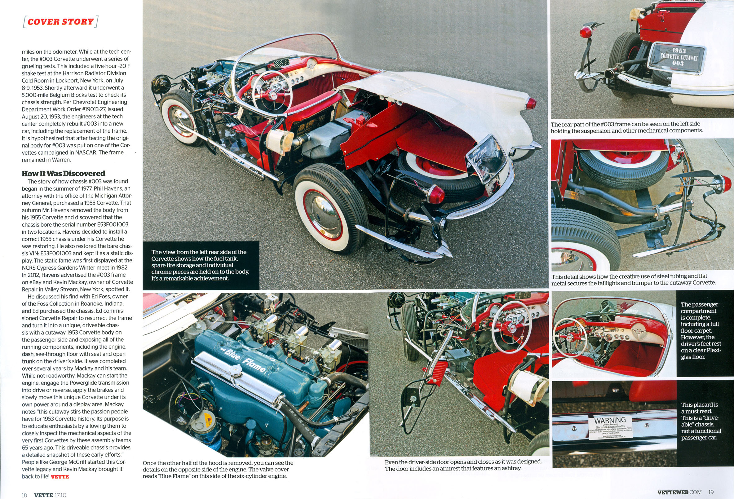 Vette Magazine October 2017: The Ultimate Cutaway 1953