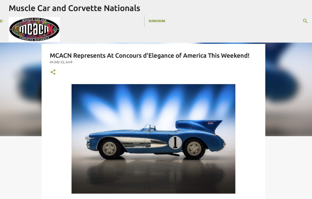 Mcacn Muscle Car Corvette Nationals July 27 29 2018 Corvette