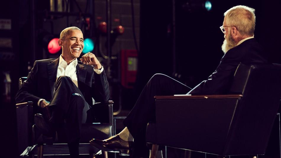 Barack Obama and David Letterman - image via Netflix