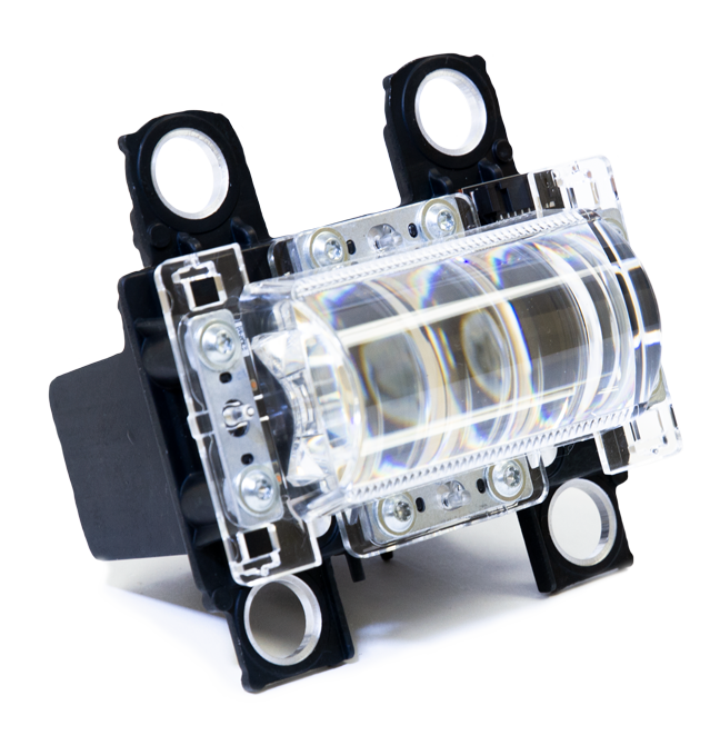LED Projector headlamp system for low beam and high beam applications