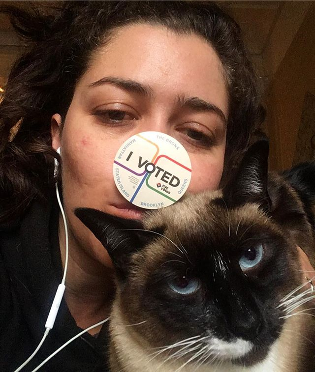 We are feeling pretty good this morning. Get out there and #votelikeyourrightsdependonit #catsofinstagram #yourvotematters #yourvotecounts #transrightsarehumanrights #immigrantrightsarehumanrights #womensrightsarehumanrights