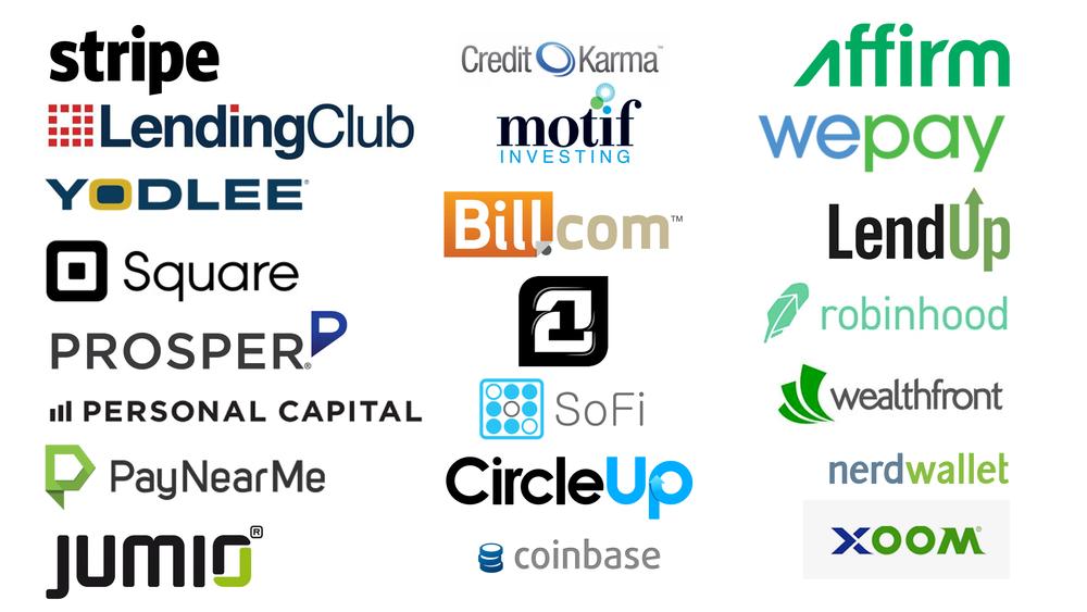 Various FinTech Startups ( Image Credit -    GoMedici  )