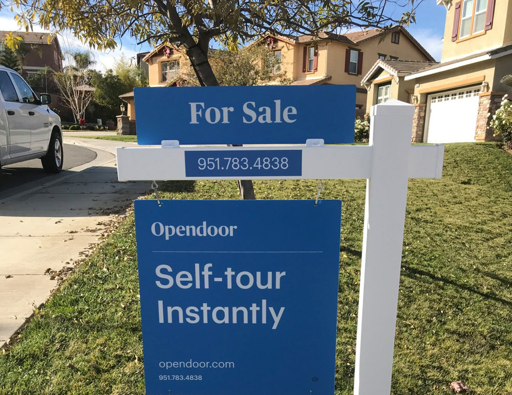 For Sale sign from Opendoor ( Image Credit - OC Register )
