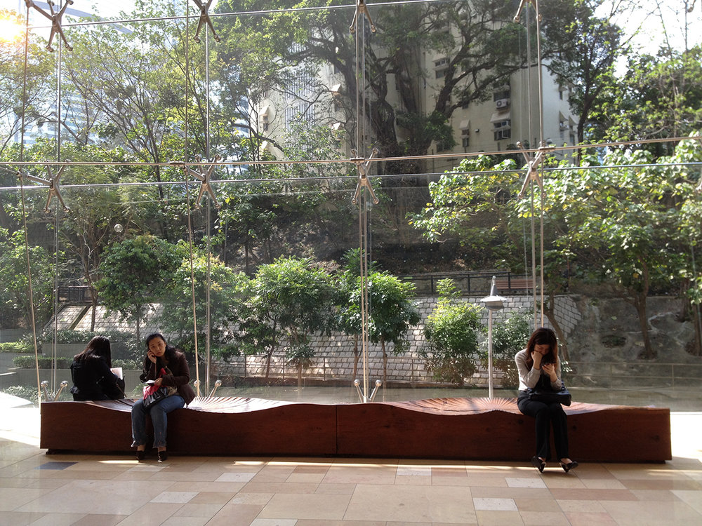 Kissing Bench (2006) . 3 Pacific Place, Hong Kong. Photo: Nicky Springthorpe