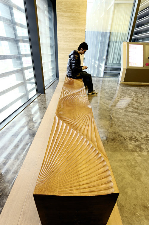 Sunrise Bench  ( 2012) . Fabricated by Urban Art Projects (UAP) for Phoenix City, Beijing, China