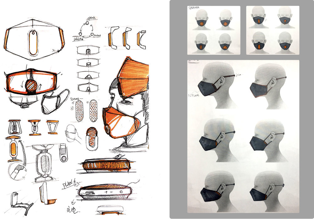 Sketch by Qifan Zhao, ZJUT BE Industrial Design, 2016